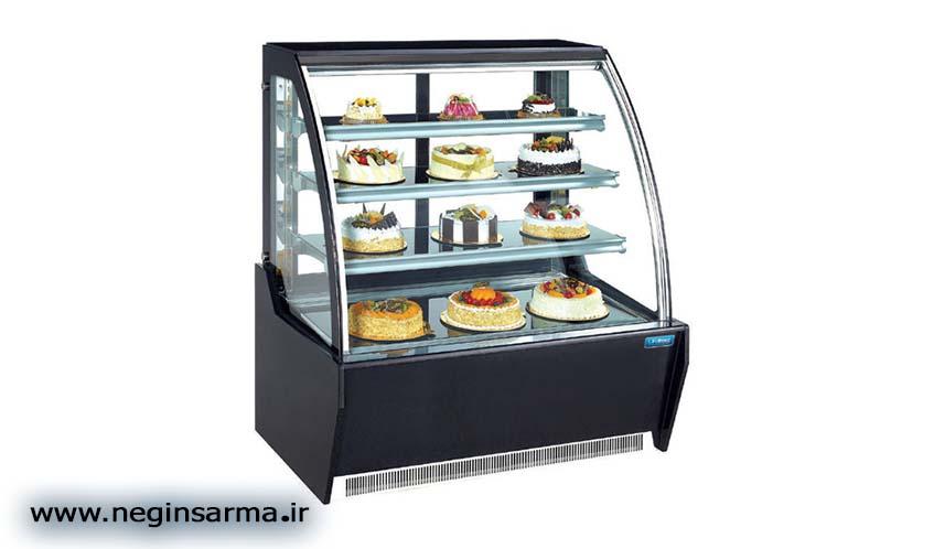 خرید انواع یخچال صنعتی ویترینی شیرینی فروشی- نگین سرما