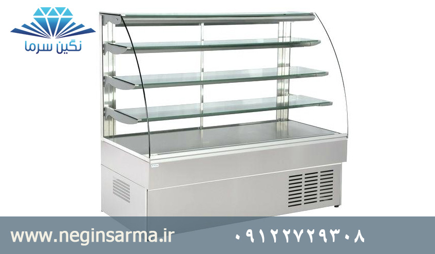 یخچال صنعتی شیشه خم
