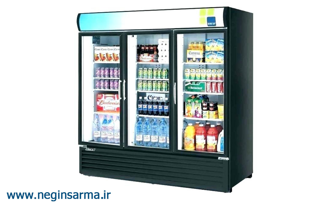 انواع یخچال صنعتی ایستاده فروشگاهی-نگین سرما